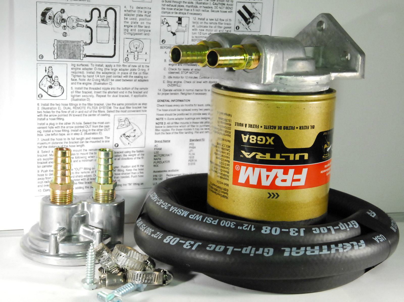 FRAM PH8A/EaO15 Toyota/Ford/Import Single Upgrade Remote Engine Oil Filter Kit