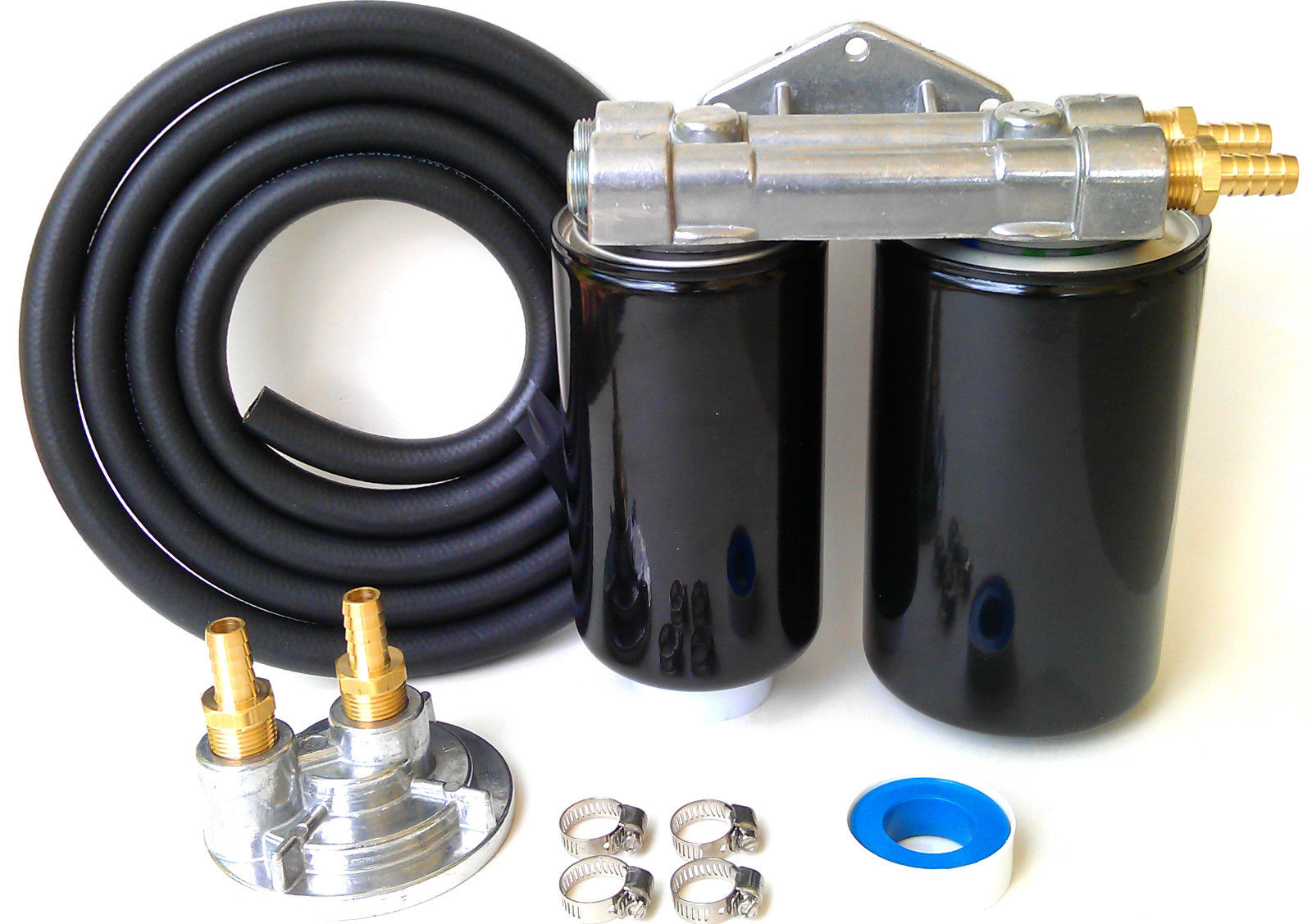 "~DODGE HEMI 5.7L Dual Bypass Engine Oil Filter Kit~3/4""-16~1 micron Version NO HOSE, NO FILTERS"